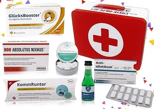 Regalo de cumpleaños, set de primeros auxilios, caja de regalo, divertida caja de pánico, regalo original Cumpleaños neutrales.: Amazon.es: Alimentación y bebidas