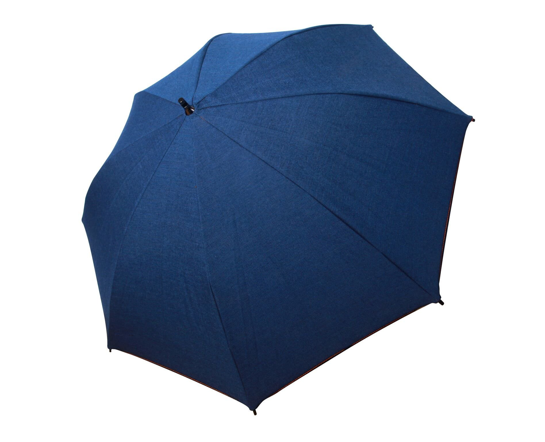 Large Sun & Rain Umbrella - Blue Jean Sunbrella Fabric - Dual Protection from Water and UVA and UVB Rays - By San Francisco Umbrella Co.