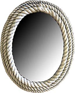 product image for Piazza Pisano Nautical Decor Cast Rope Oval Wall Mirror