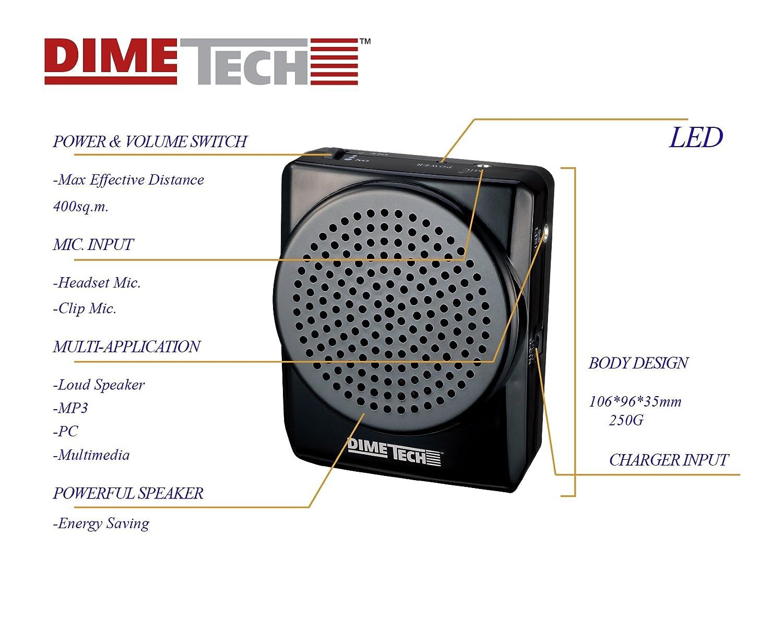 Voice Amplifier 20 Watts Portable For Teachers Higain Speaker Listening Circuit Kit Aa5 Coaches Tour Guides Presentations Costumes Etc Electronics