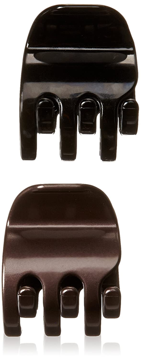Goody Colour Collection 1/2 Claws Hair Clip, Stay Put Hold, Black, 2 Count 76792