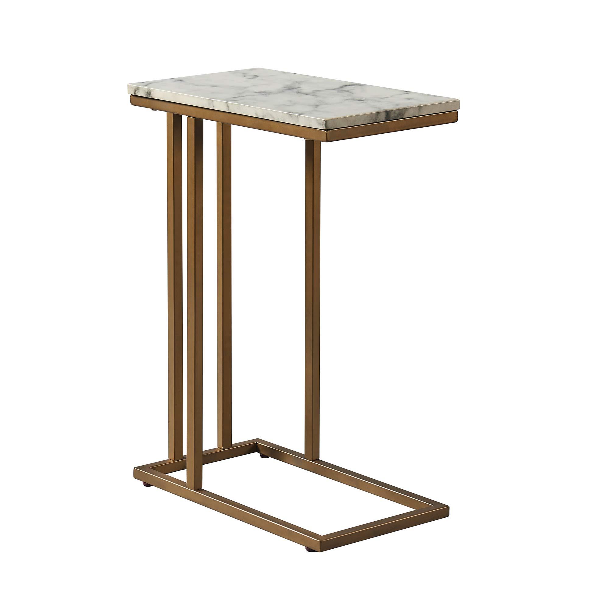Versanora - Marmo C Shape Table - Faux Marble /Brass by Versanora (Image #7)