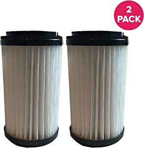 Crucial Vacuum Replacement Vacuum Filter Part # 82720, 82912 - Compatible with Kenmore Vacs - Kenmore DCF1, DCF2 Filter, Removable Endcap for Home Use - Washable, Reuseable (2 Pack)
