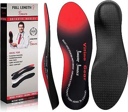 Flat Feet NEW Heel Spurs Full Length Orthotic Arch Support-Plantar Fasciitis
