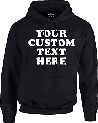 5fb0bf4e Custom Front Pullover Hoodie Sweatshirt (Unisex, Youth/Adult) - Add Your  Custom