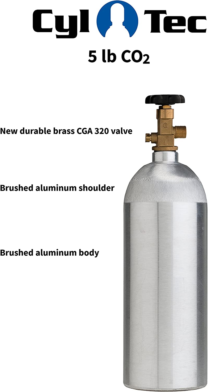 Cyl-Tec CO2 Aluminum Cylinder with CGA 320 Valve 5 lb