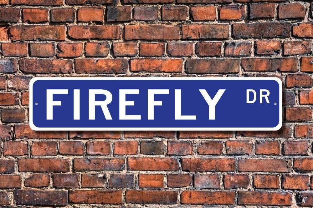 VinMea Funny Metal Sign Sign, Firefly Decor, Firefly Lover, Firefly Expert, Lightning Bug, Aluminum Sign Wall Art Decor Metal Sign,Public Sign,Decoration Sign 4x18 Inches