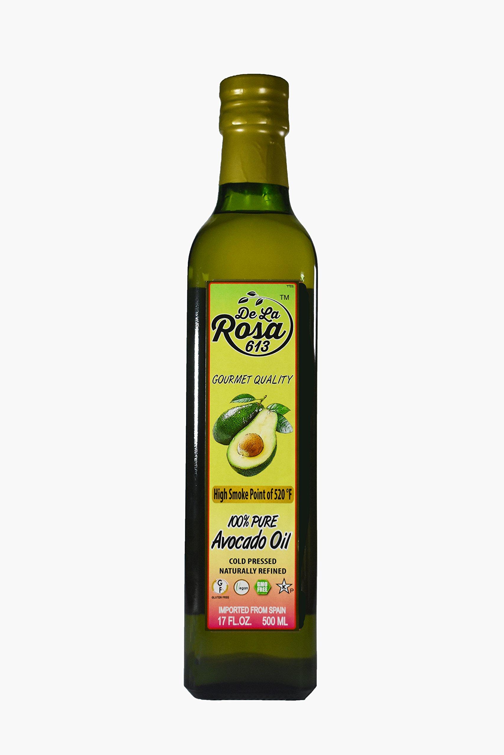 De La Rosa 100 Percent Pure Avocado Oil, 17 Fluid Ounce