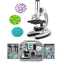 TELMU Microscopio de bolsillo para niños y principiantes