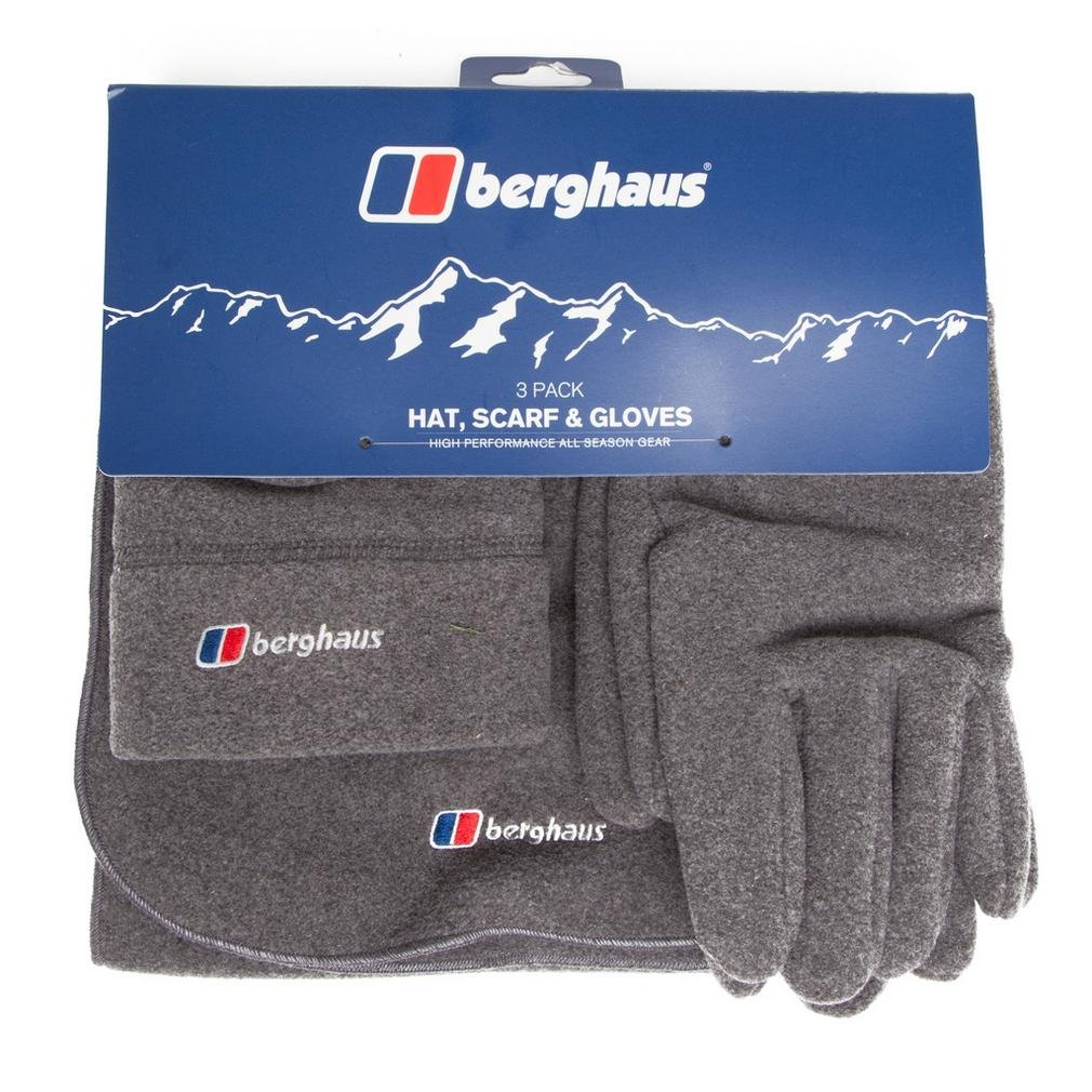 Black Twin Pack New Berghaus Fleece Hat and Scarf Set