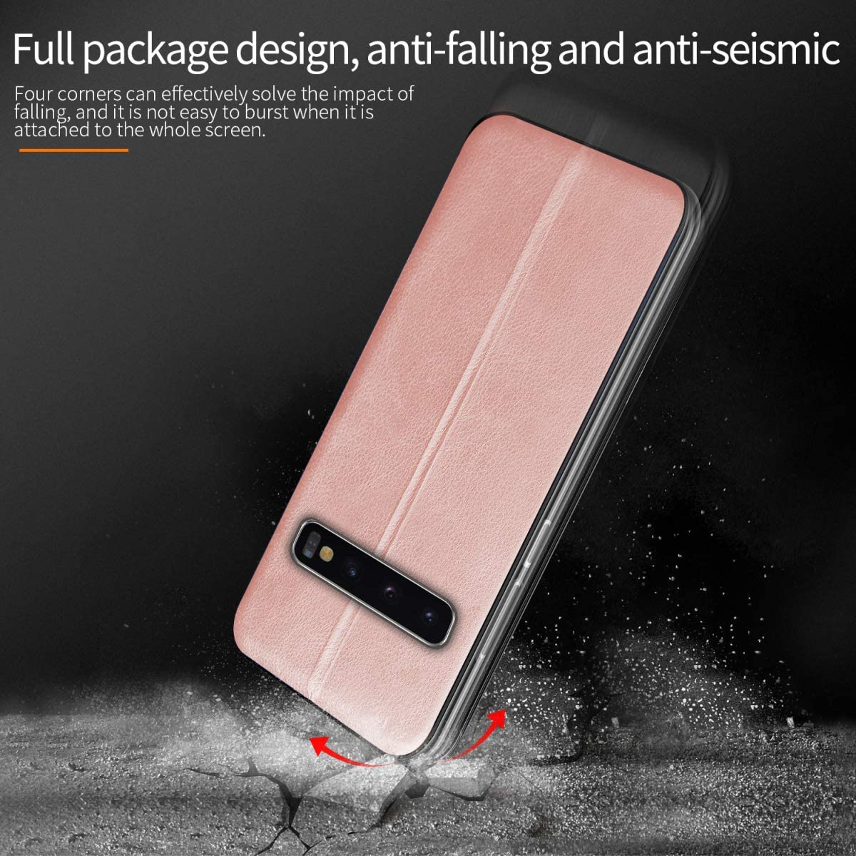 Genuine Slim Vintage Synthetic Leather Card Cover Magnetic Adsorption 360/°Bumper Flip Folio, Fvntuey Wallet Case Magnetic for Samsung Galaxy A10 with Slots Closure Compatible with Galaxy A10
