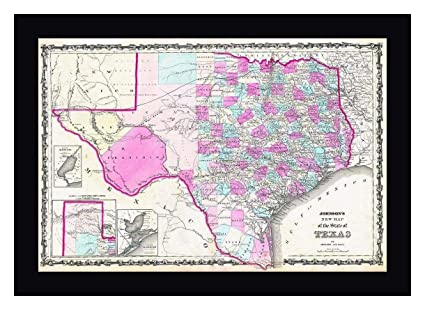New Map Of Texas.Amazon Com Johnsons New Map Of Texas By Bill Cannon 11 X 15