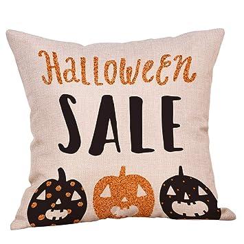 Luckycat Halloween Kissenbezüge Leinen Sofa Kürbis Ghosts