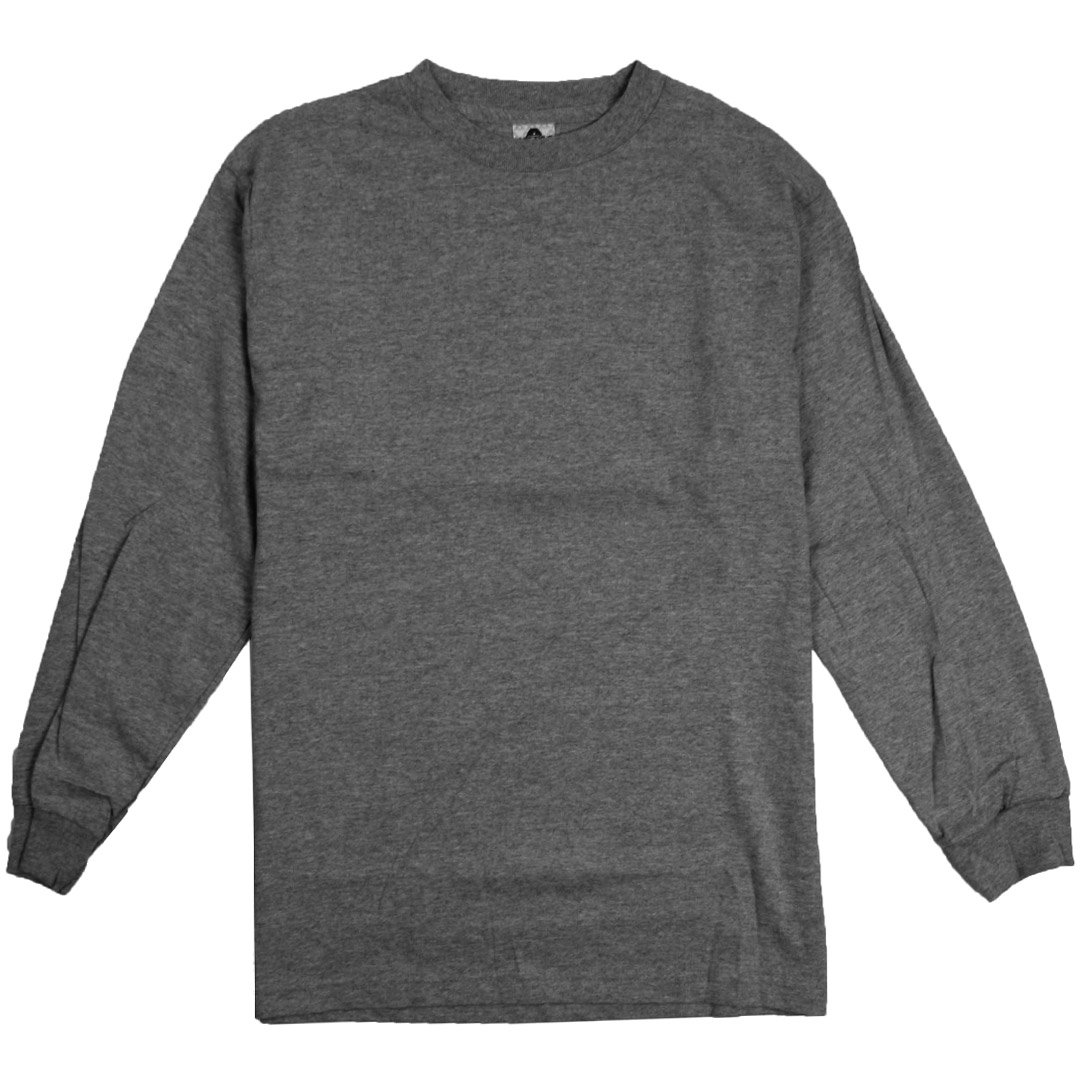 Black t shirt plain front and back - Amazon Com Alstyle Apparel Aaa Plain Blank Men S Long Sleeve T Shirt Style 1304 Crew Tee Clothing
