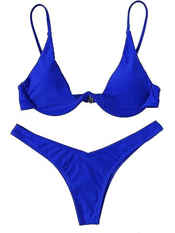 0130b02b52 Verdusa Women s Sexy Triangle Bathing Two Pieces Swimsuit Bikini Set