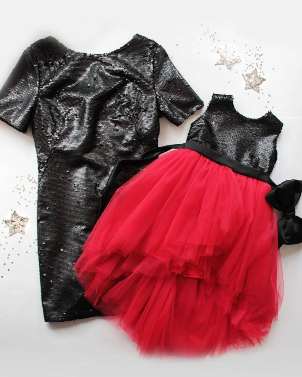 ce0b7f8a This pretty mother daughter matching sequin set of tutu tulle dress for  girl and sequin knee length tight dress for Mom is designed specially for  you and ...