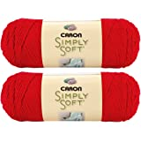 Bulk Buy: Caron Simply Soft Yarn Solids (2-pack) (Harvest Red)