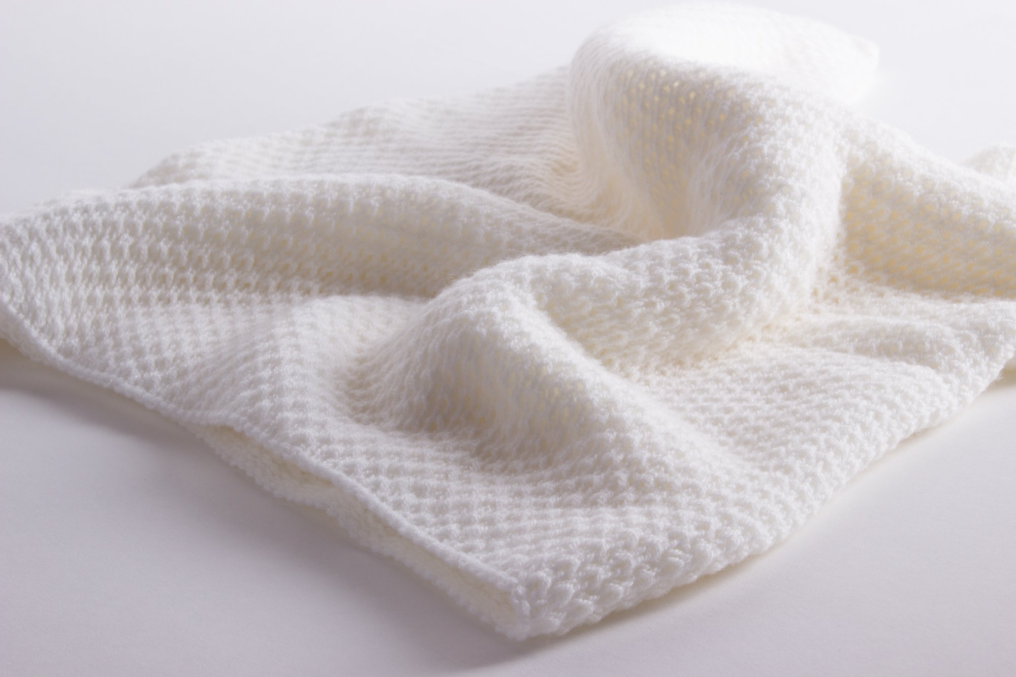 Unisex Super Soft 100% Cashmere Baby Blanket -  White  - hand made in  Scotland by Love Cashmere 02f8f9687