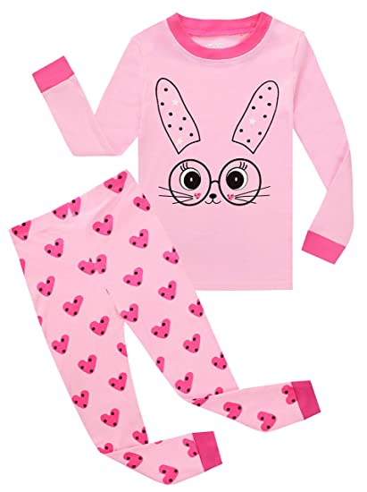 627f77b9fc Kids Pajamas Hop Rabbit Baby Girls Pajamas Children 100% Cotton Clothes Set  Toddler Pjs (