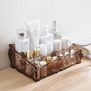 Organizadores de cosméticos Estuche cosmético caja de almacenamiento cajas de acabado estantes Tocador cosméticos productos para el cuidado de la piel ...
