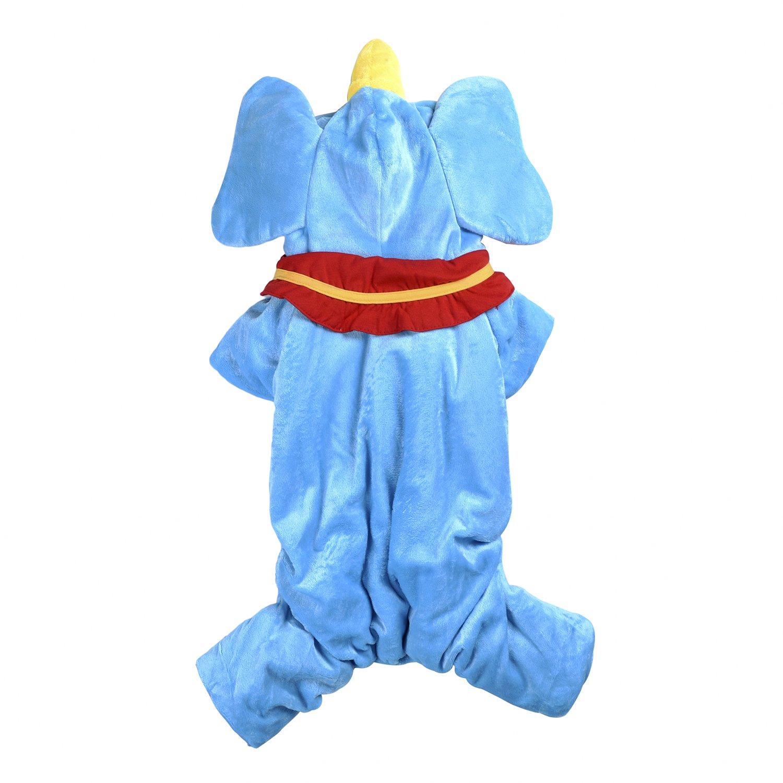 Woo Woo Pets New Arrival Christmas Cute Tridimensional Dumbo Pet Costume Blue S