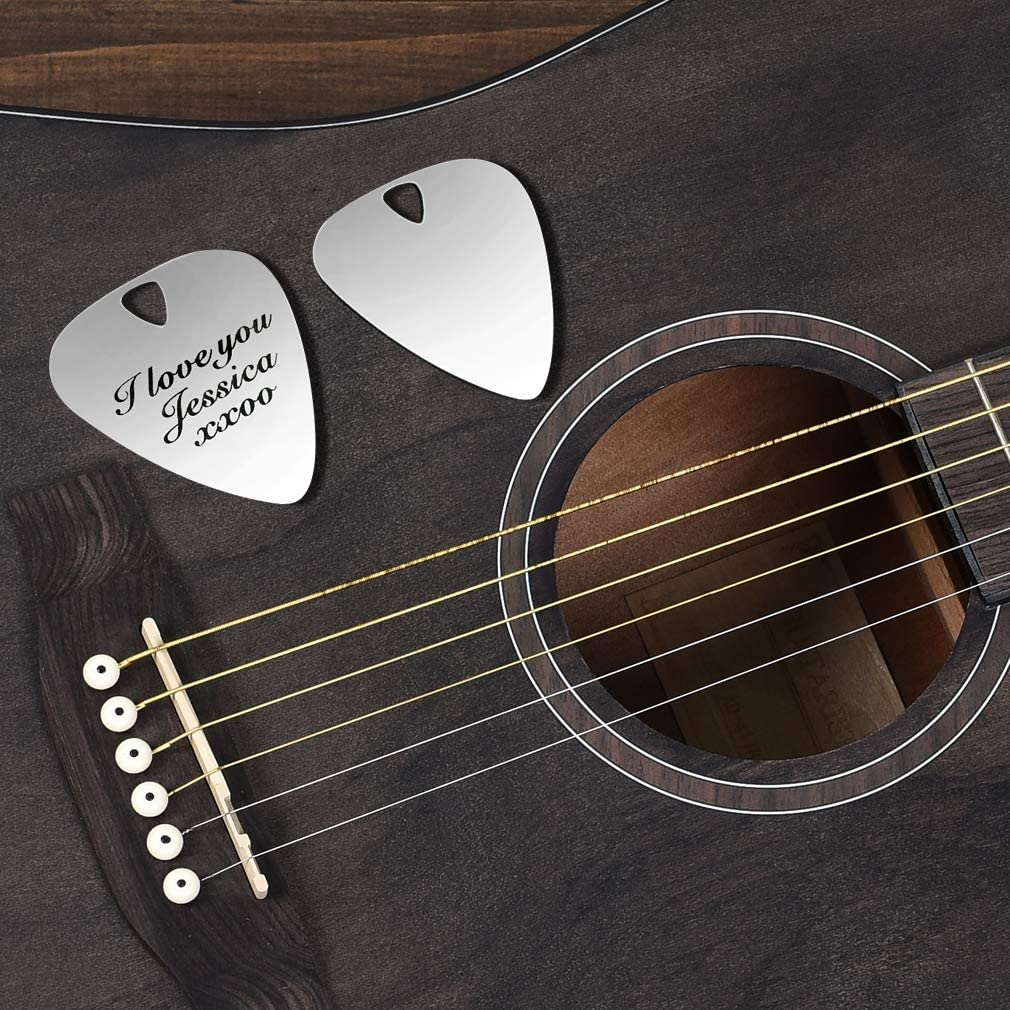 Guitar Pick Ill Always Pick You Guitar Pick Custom Guitar Pick Ten Year Anniversary Gift for Him Valentines Day Gift for Boyfriend Silver guitar pick 2