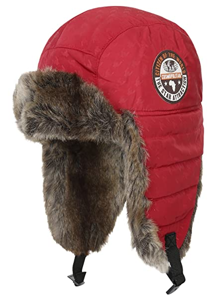 ililily Hounds-tooth Pattern Padded Aviator Trapper Trooper Winter Bomber  Hat 659d6e3bdd1