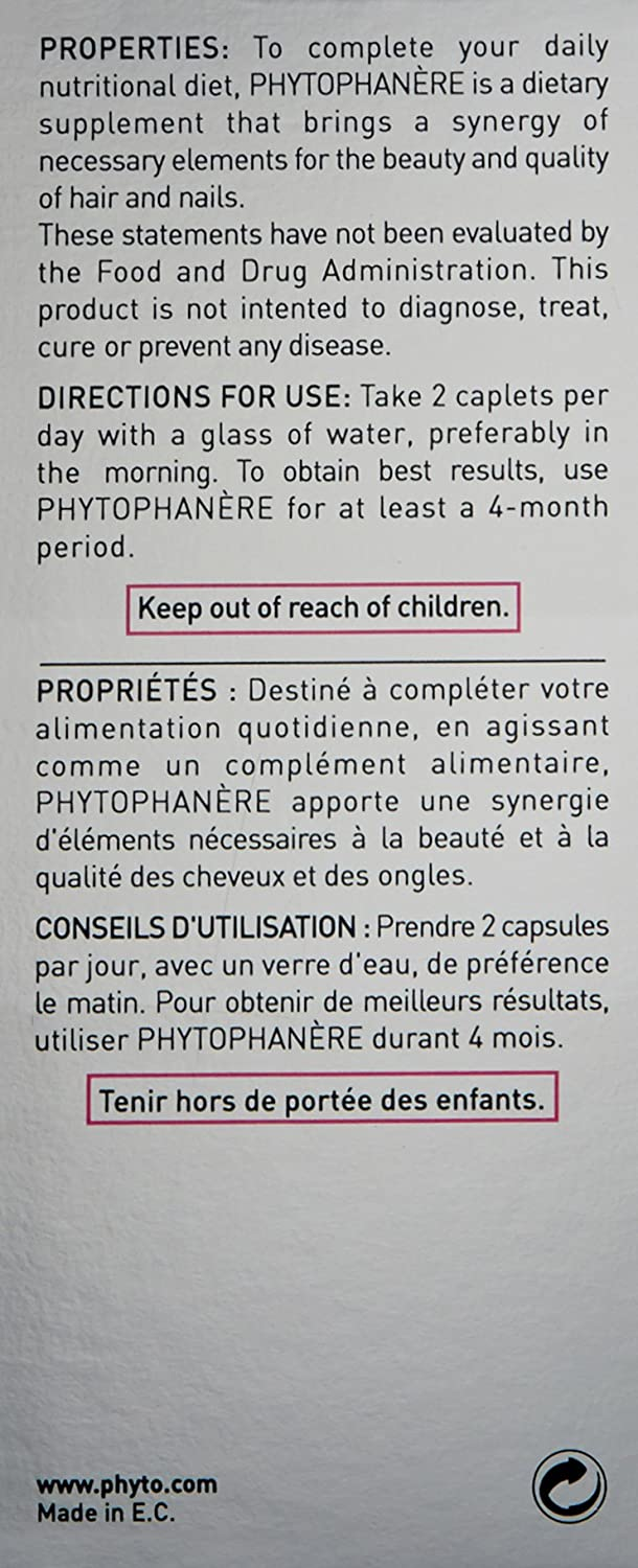 Amazon Phyto Phytophanre Hair And Nails Dietary Supplement 2