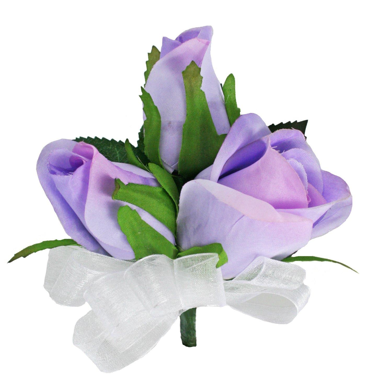Lavender Silk Rose Corsage – Wedding Corsage Prom