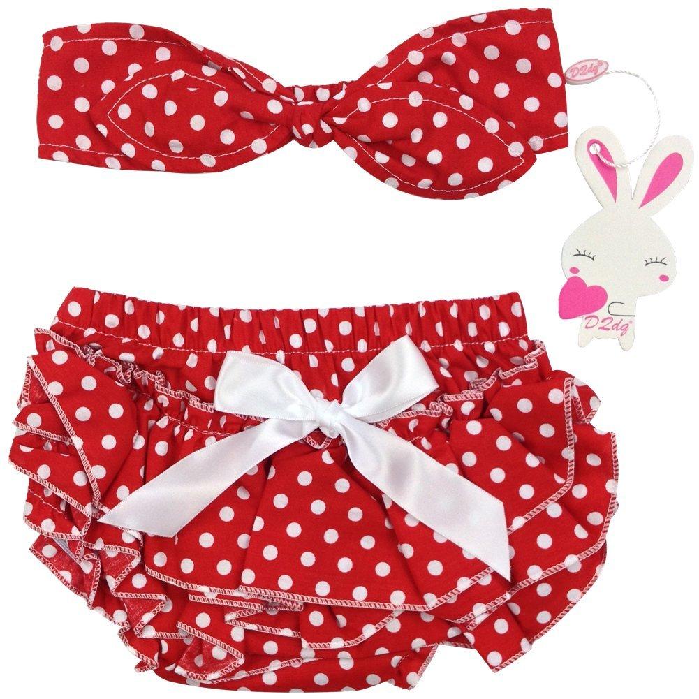 DQdq Baby Girls Cotton Ruffle Panties Briefs Bloomer Diaper Cover