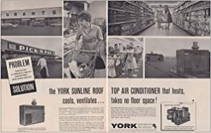RelicPaper 1962 York Sunline Roof Air Conditioner: Pick n Pay, Grants, York Air Conditioners Print Ad
