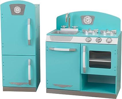 Amazon Com Kidkraft 2 Piece Retro Kitchen Blue Toys Games
