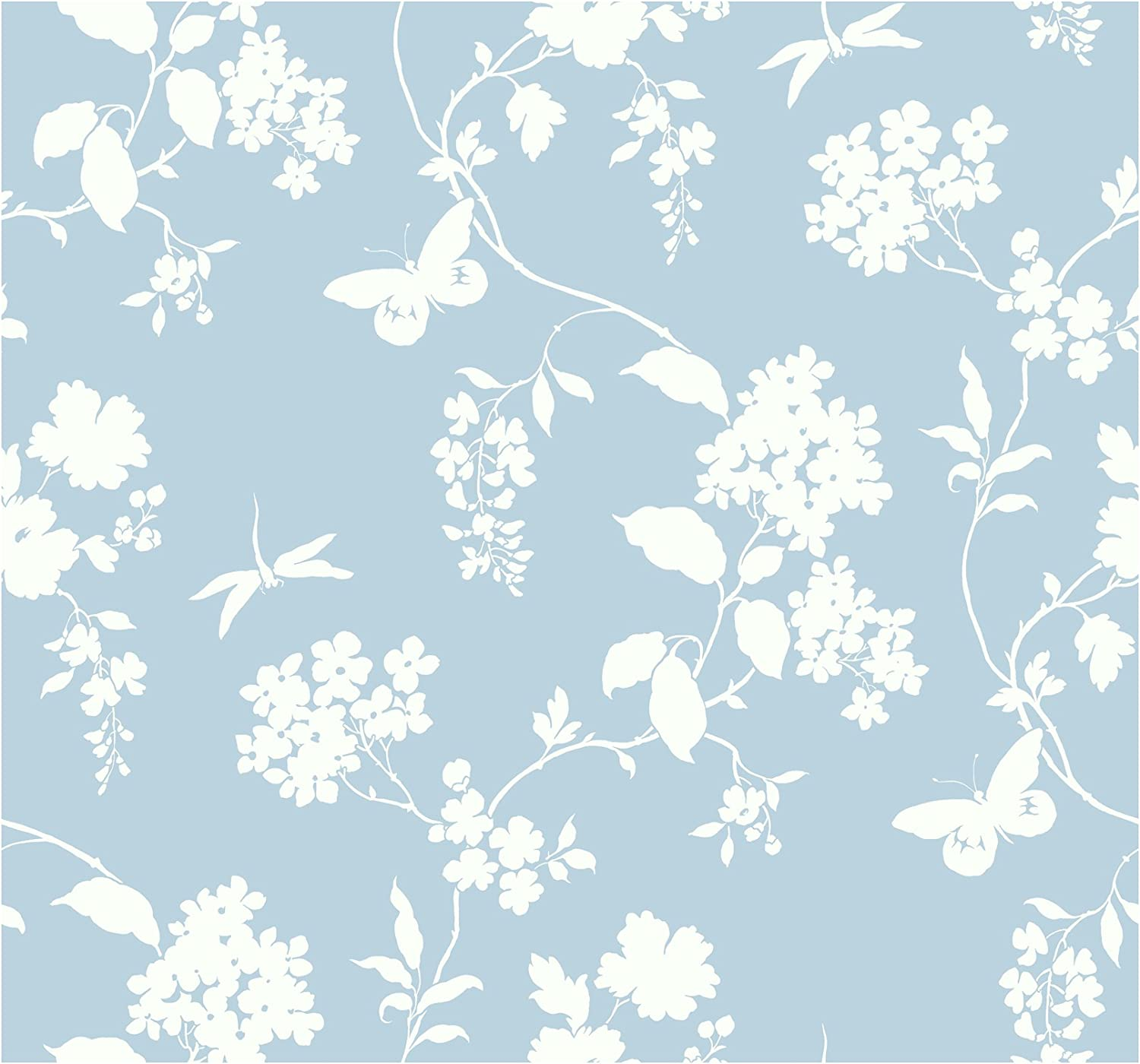 Amazon Com York Wallcoverings Silhouettes Trailing Floral And