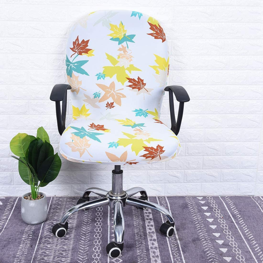 Freahap Chair Cover Stretchable Removable Computer Office Swivel Chair Cover #7