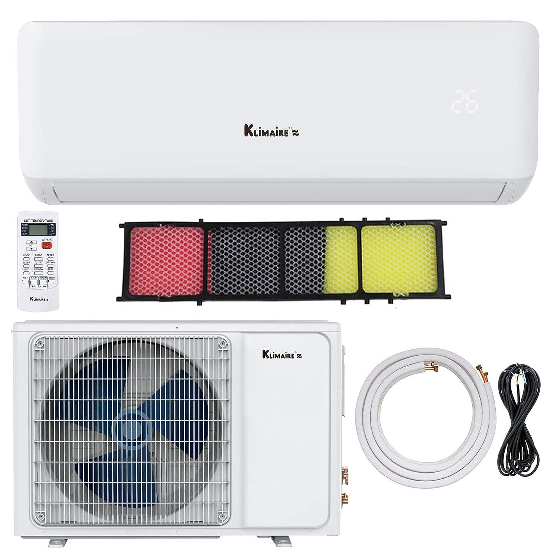 Amazon.com: Klimaire 12,000 BTU 17 SEER Ductless Mini-Split Inverter Air  Conditioner Heat Pump with 15 Ft Installation Kit (230 Volt): Home & Kitchen