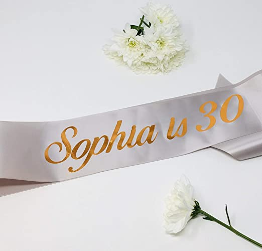 Birthday sash/Personalised name and age sash / 21st, 30th