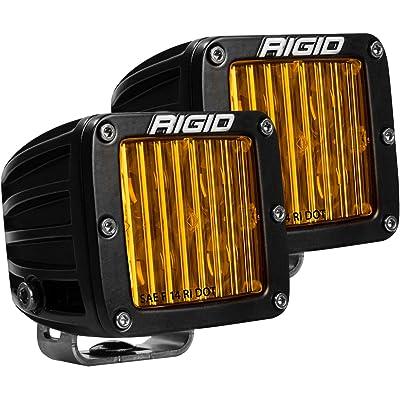 RIGID D-SERIES PRO DOT/SAE J583 FOG LIGHT SELECTIVE YELLOW SURFACE MOUNT | PAIR (set of 2), 504814: Automotive