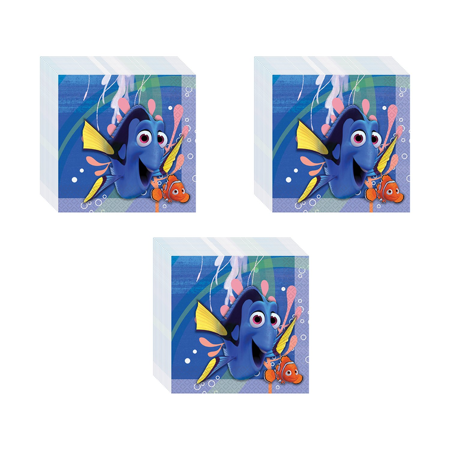 Finding Dory Party Lunch Napkins - 48 Pieces by Pinatas