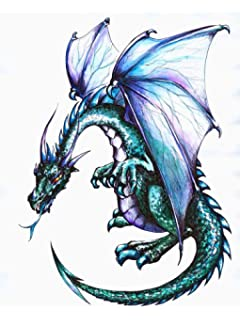 Wallmonkeys Dragon Peel And Stick Wall Decals WM117867 (30 In H X 23 In W