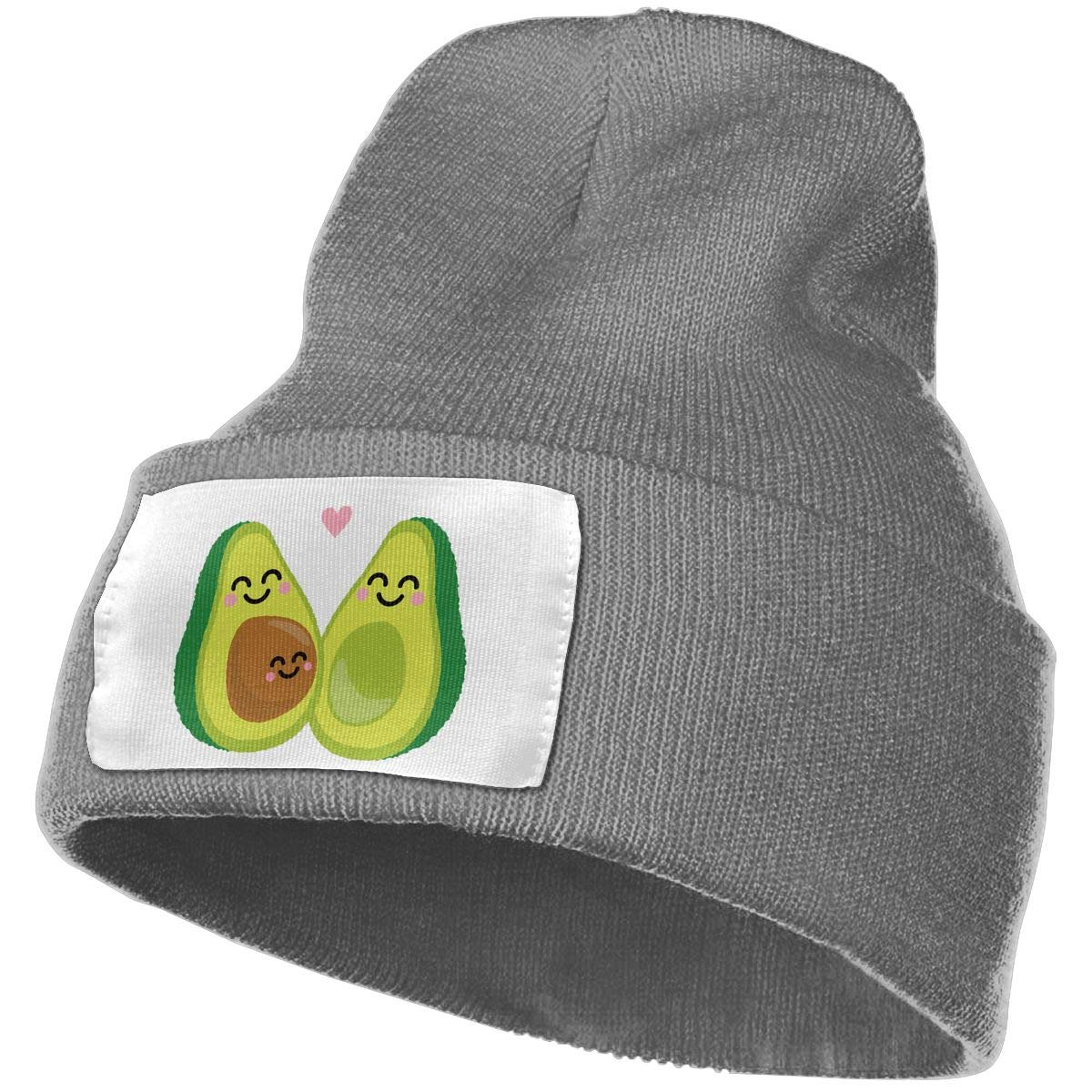 Baby Avocado Avocado Family Unisex Knitted Hat Casual Knitting Beanies Caps Black