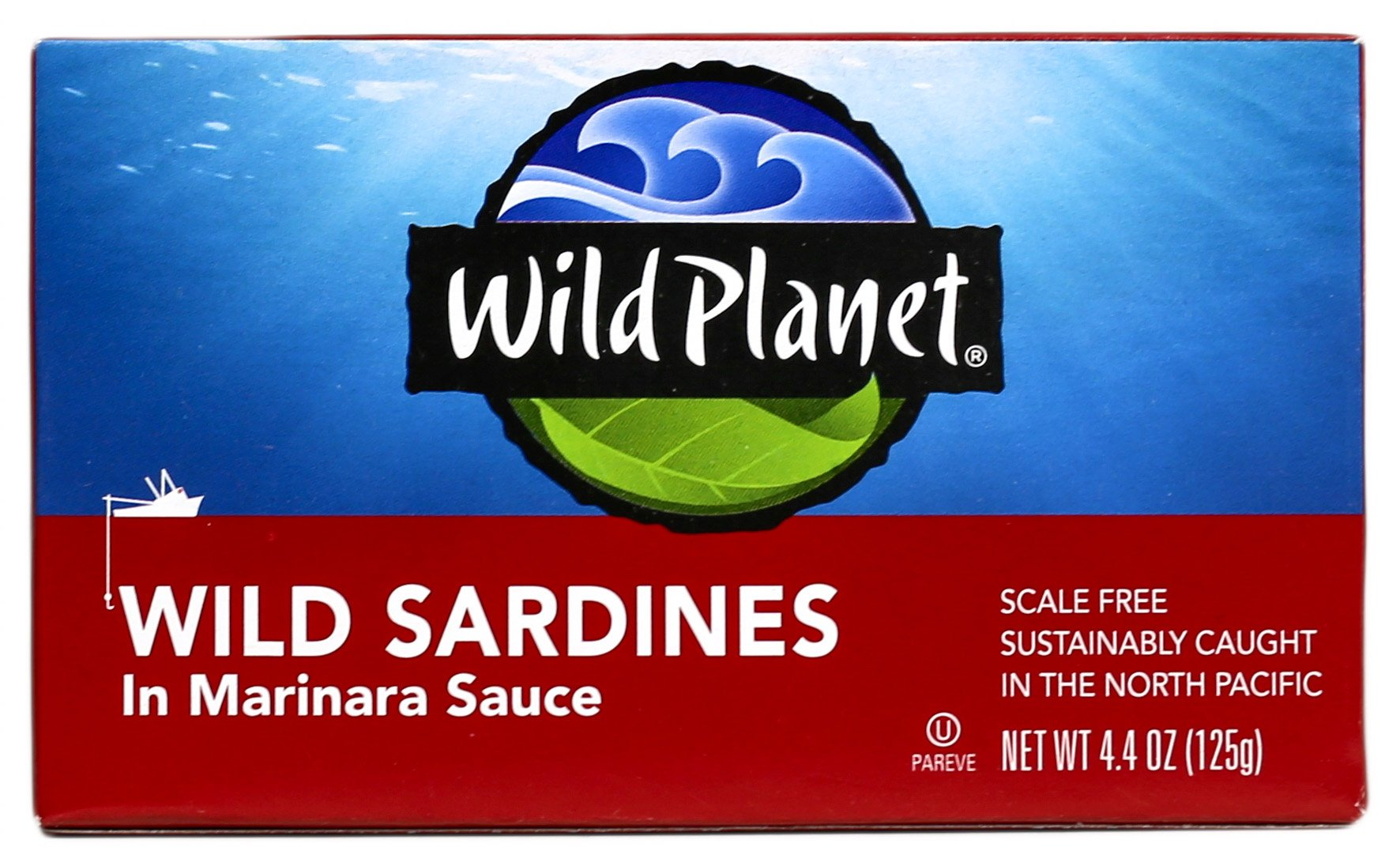 Wild Planet, Wild Sardines in Marinara Sauce, 4.4 Ounce (Pack of 12)