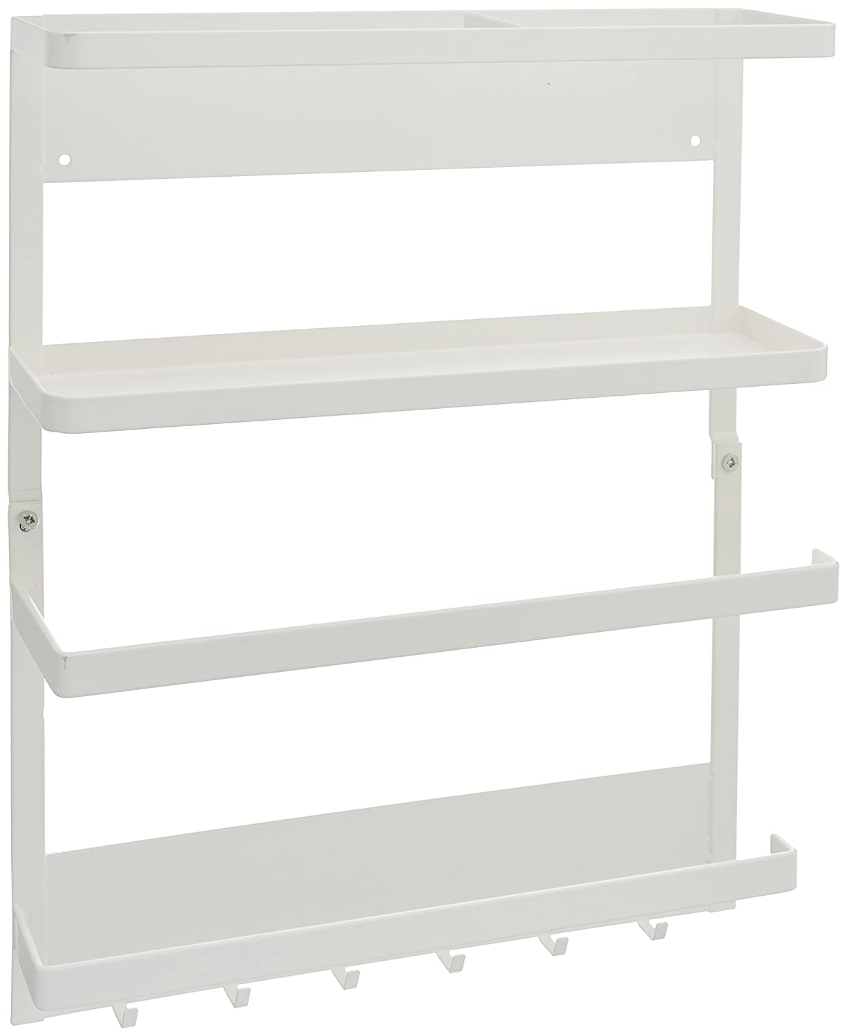 YAMAZAKI home Plate Magnetic Kitchen Organization Rack, White