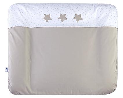 Julius Zöllner 2385116158 Algodón, Poliéster, Cloruro de polivinilo Gris pardo, Color blanco Plano