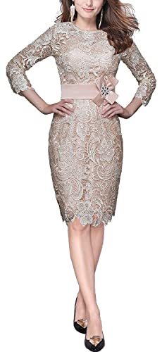 Butmoon Women's Sheath Lace Mother of the Bride Dress Evening Party Dress