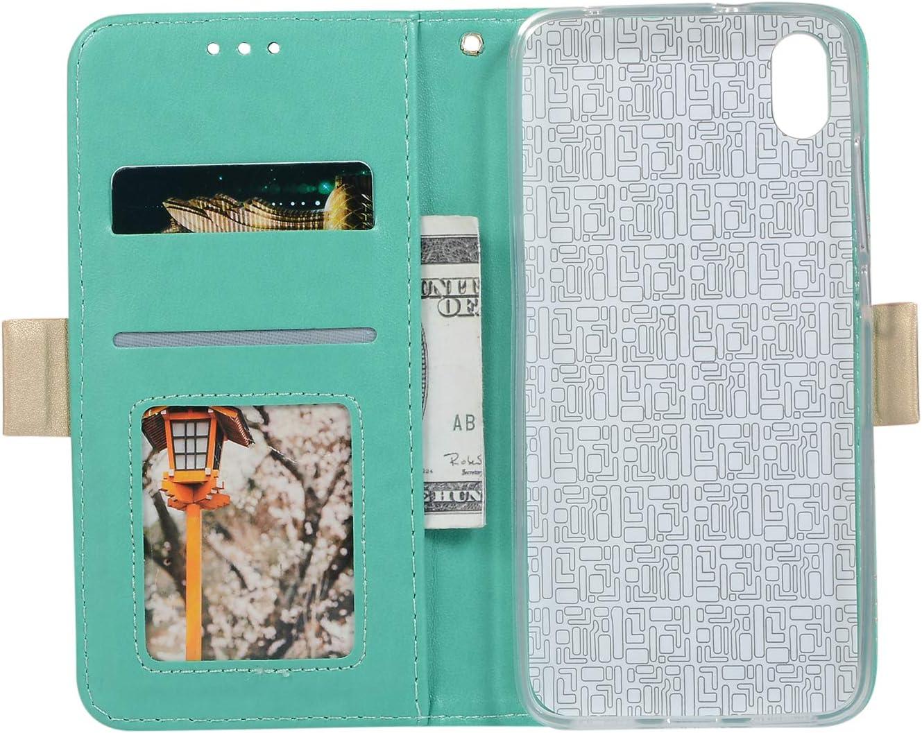 Shockproof Leather Flip Cover Case for Xiaomi Redmi7A NEXCURIO Wallet Case for Xiaomi Redmi 7A with Card Holder Side Pocket Kickstand NEHHA120312 Green