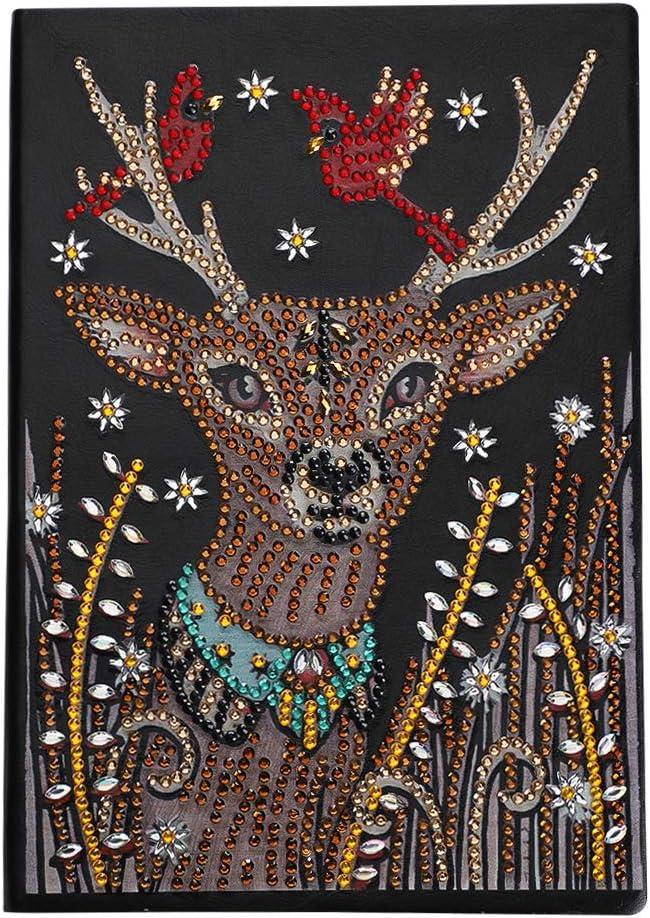 Christmas Elk Mandala 5D DIY Special Shaped Diamond Painting Cross Stitch Kit US