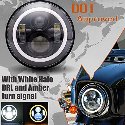 50w 7 Led Headlight Drl For Harley Road King Street Glide Ultra Classic Electra Glide Heritage Softail Fatboy Deluxe Yamaha Home