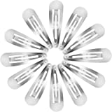 50 Pack Snap Hair Clips Hair Barrettes for Kids, Girls and Women, 50 mm (Silver)