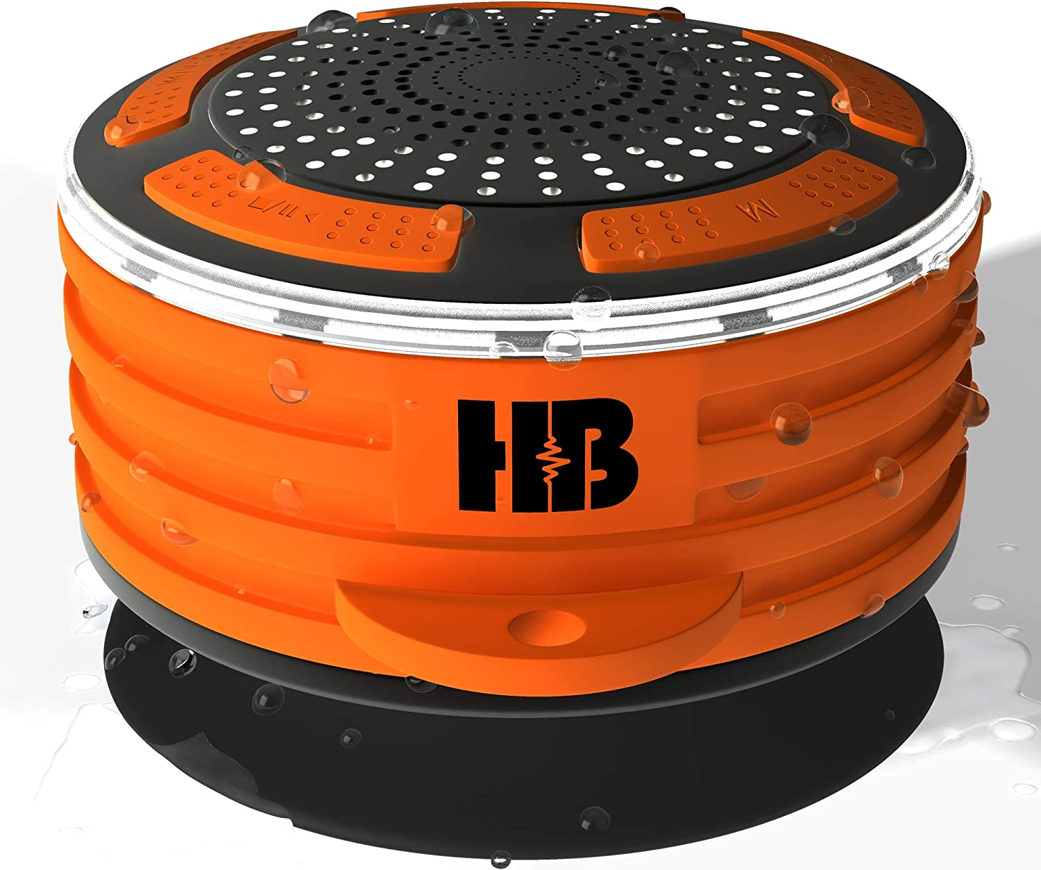 HB Illumination – Portable Bluetooth Waterproof Shower Radio – IPX7 Waterproof, Shockproof and Dustproof – Dynamic Surround Sound with Deep Powerful Bass. Bluetooth 4.0 and FM Radio.