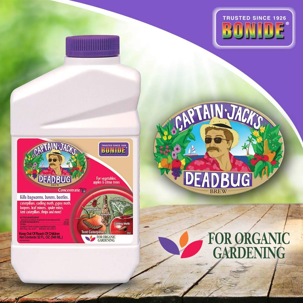 Bonide (BND253) - Captain Jack's Dead Bug Brew, Insecticide/Pesticide Concentrate (32 oz.), Brown/A